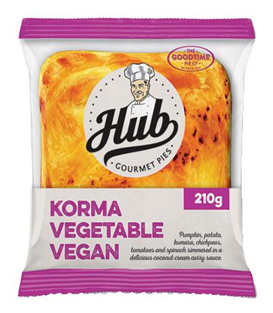 Hub Korma Vegetarian Pie