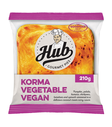 Hub Korma Vegetarian Vegan Pie