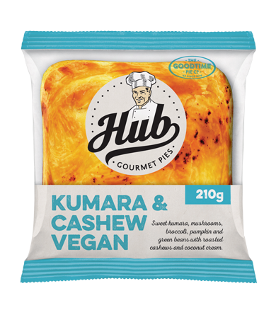 Hub Kumara and Cashew Vegan Pie