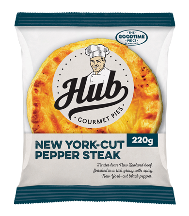 Hub New York Pepper Steak Pie