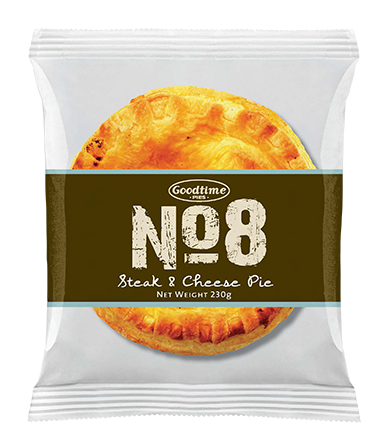 No.8 Premium Steak and Cheese Pie